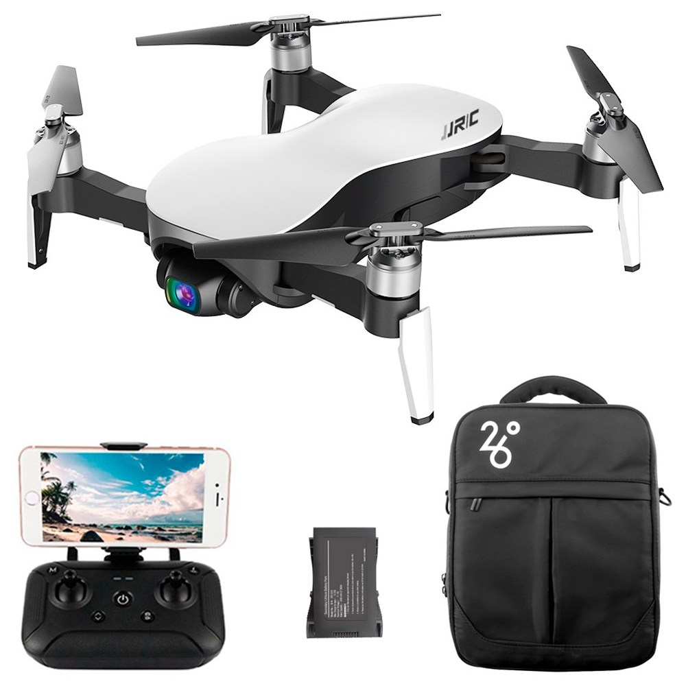 JJRC X12 4K GPS RC Drone White Two Batteries with Bag