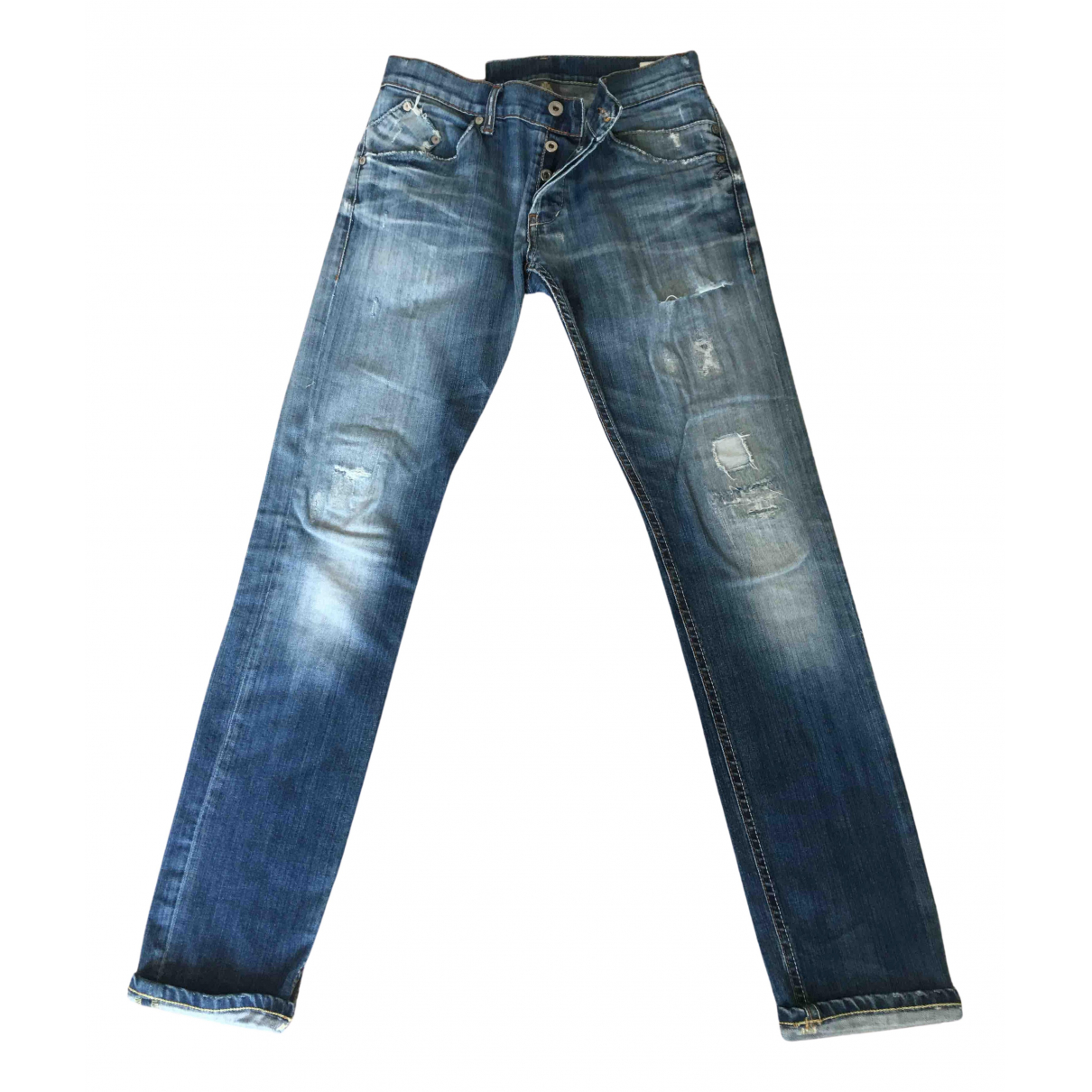 Dondup N Blue Cotton - elasthane Jeans for Men 31 US