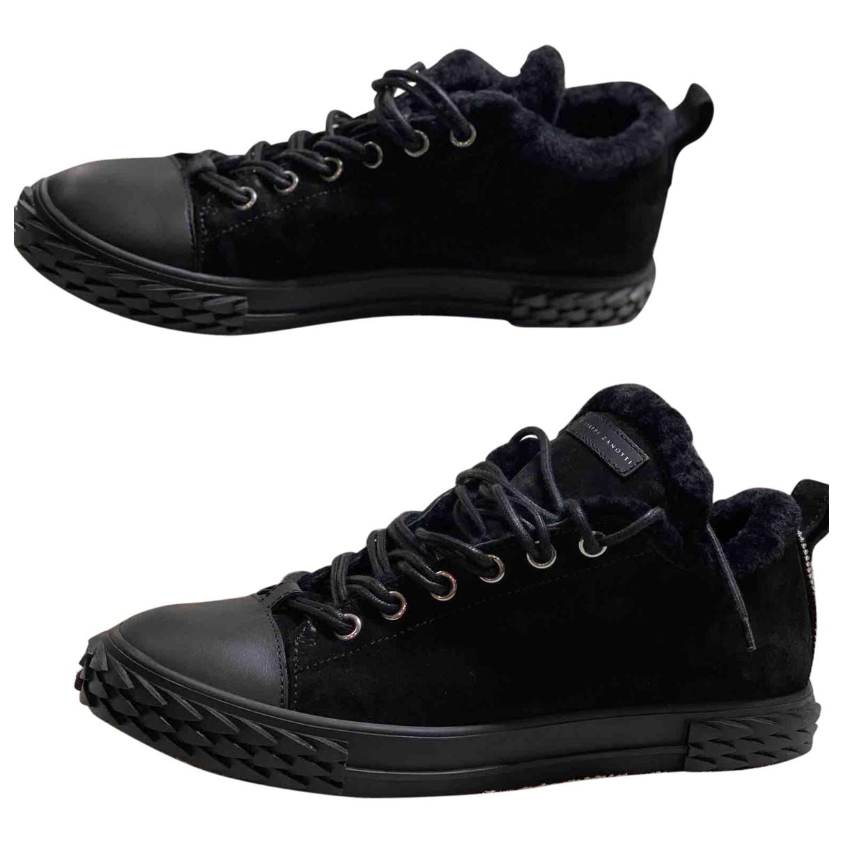 Giuseppe Zanotti - Baskets   pour homme en suede - noir