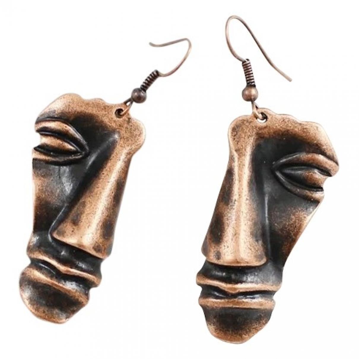 - Boucles doreilles Art Deco pour femme en metal