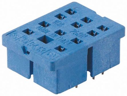 Finder 11 Pin Relay Socket, 250V ac for use with 55.33