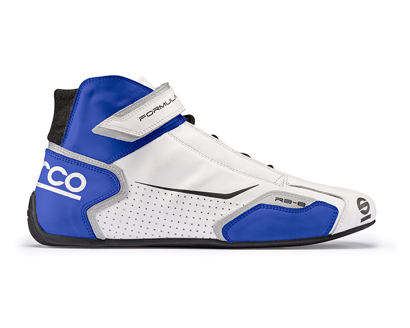 Sparco 00123637BIAZ White and Blue Formula RB-8 Driving Shoes EU 37