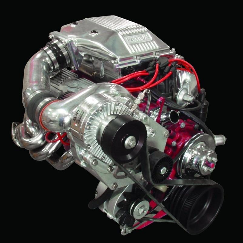 Paxton Passenger Side Mount NOVI 1500 Satin Supercharging System Ford Mustang Carbureted 289|302 64-68