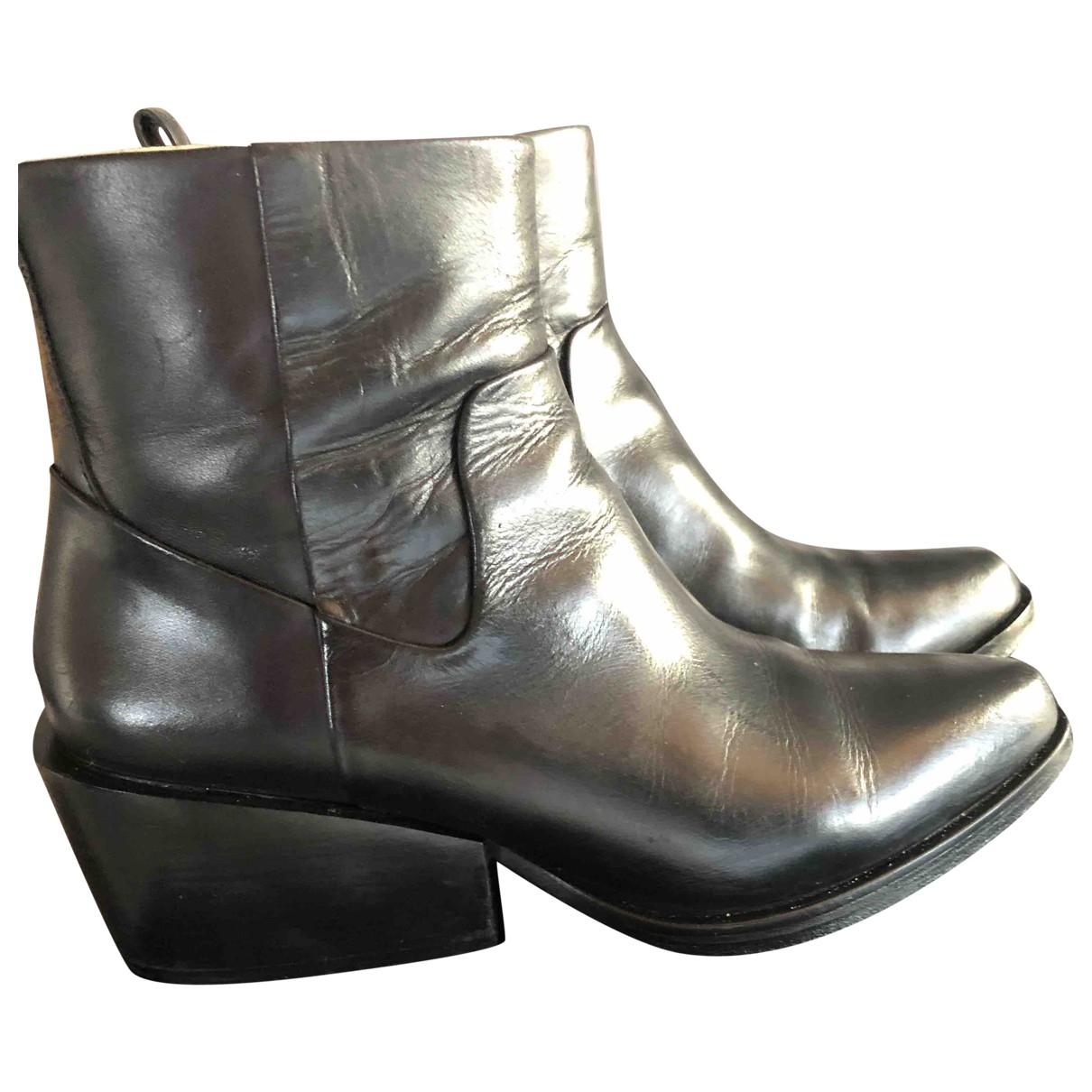 Donna Karan - Bottes   pour femme en cuir - noir