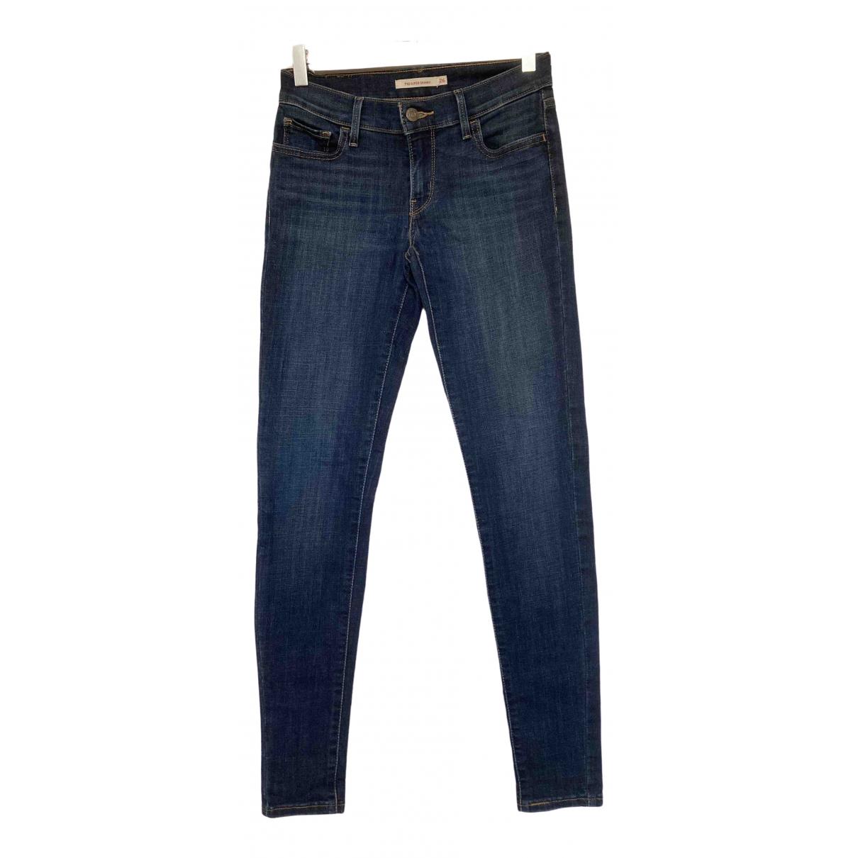 Levi's 710 Blue Denim - Jeans Jeans for Women 26 US