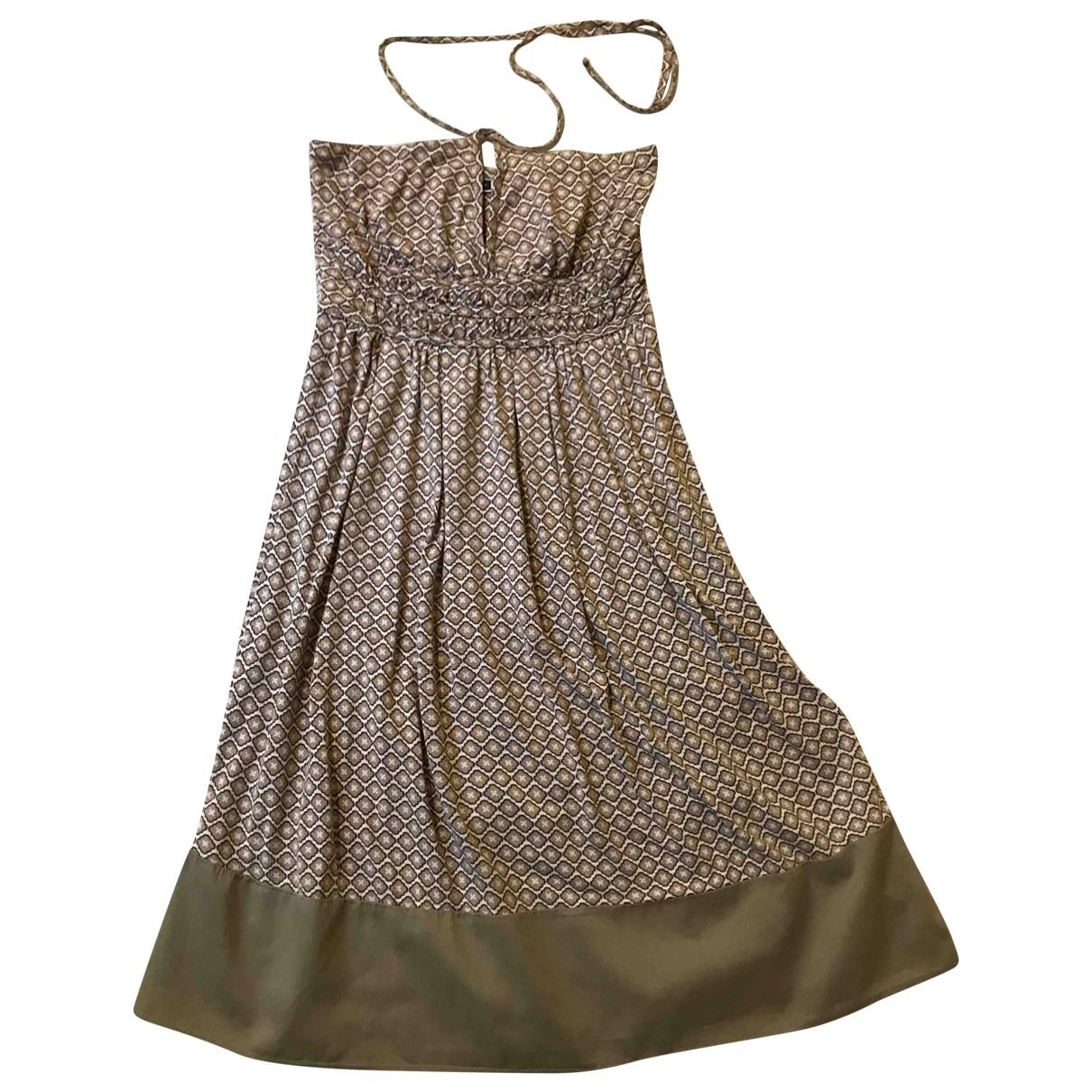 Sport Max \N Kleid in  Beige Baumwolle