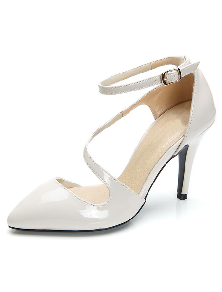 Milanoo Zapatos puntiagudos de charol PU