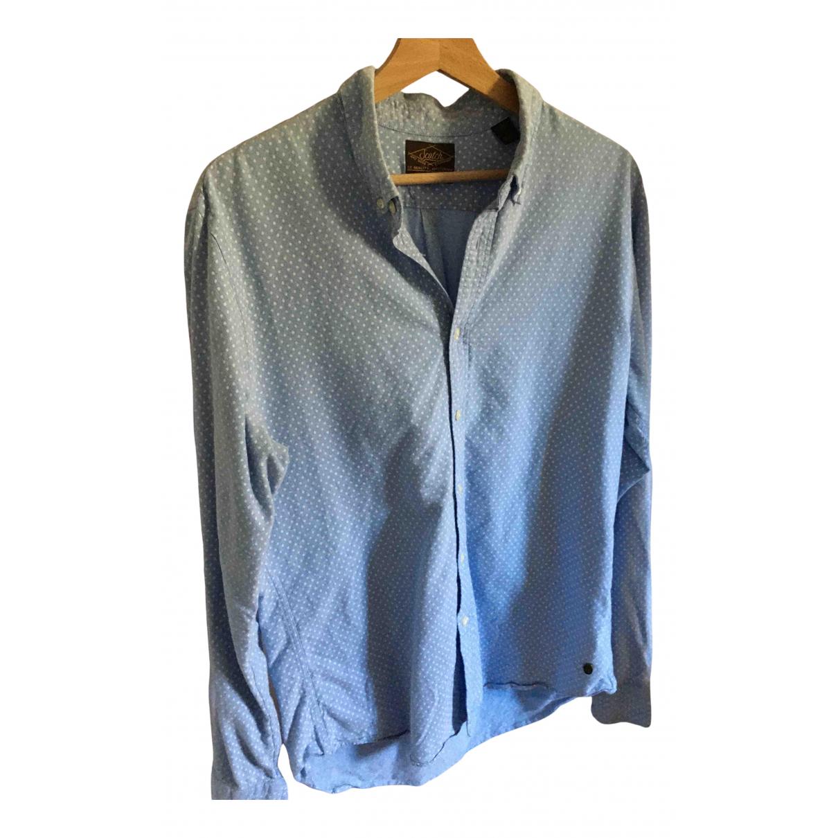 Maison Scotch - Chemises   pour homme en coton - turquoise