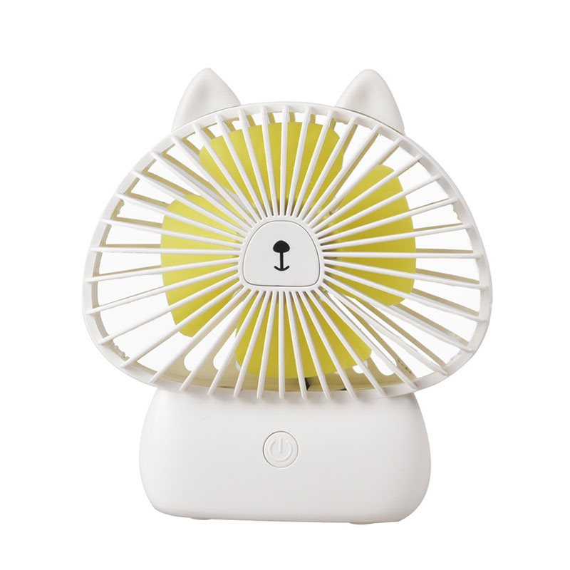 Kitty Model Colorful Night Lights Noiseless Wind Stability USB Fans