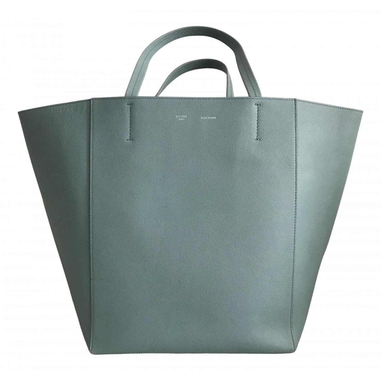Celine Cabas Phantom Handtasche in  Blau Leder