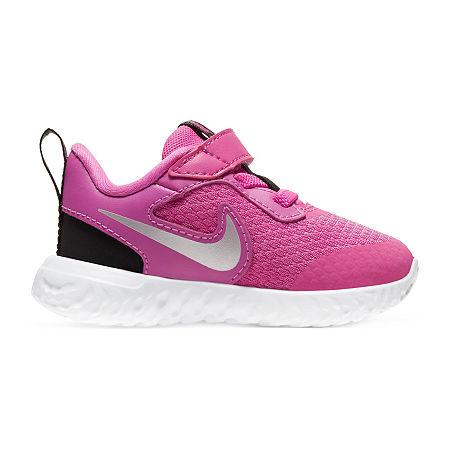 Nike Revolution 5 Toddler Girls Running Shoes, 10 Medium, Red