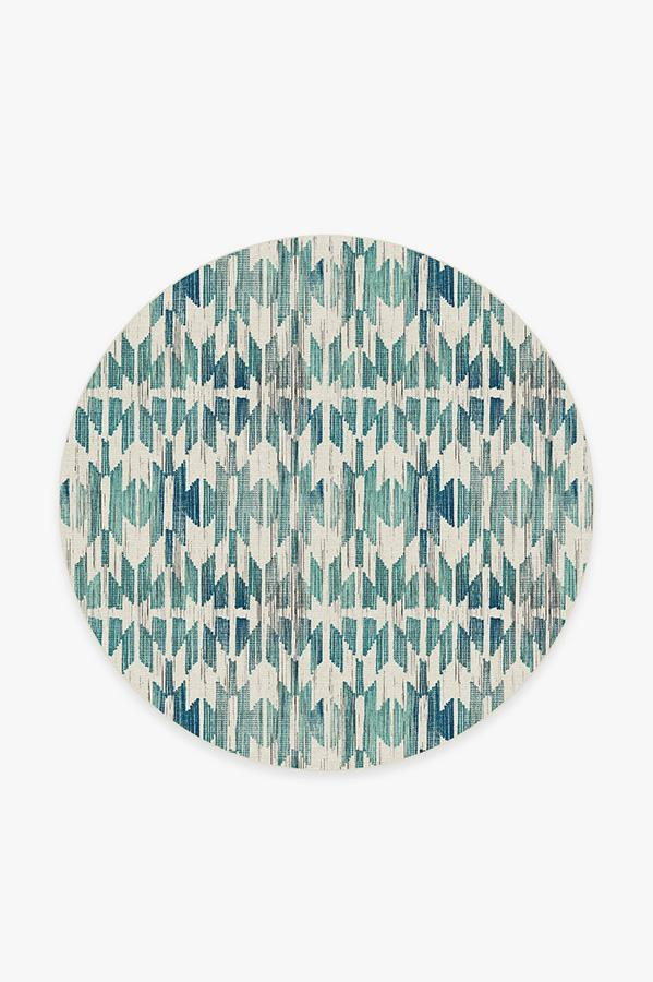 Washable Rug Cover & Pad | Hesperia Teal Rug | Stain-Resistant | Ruggable | 6' Round