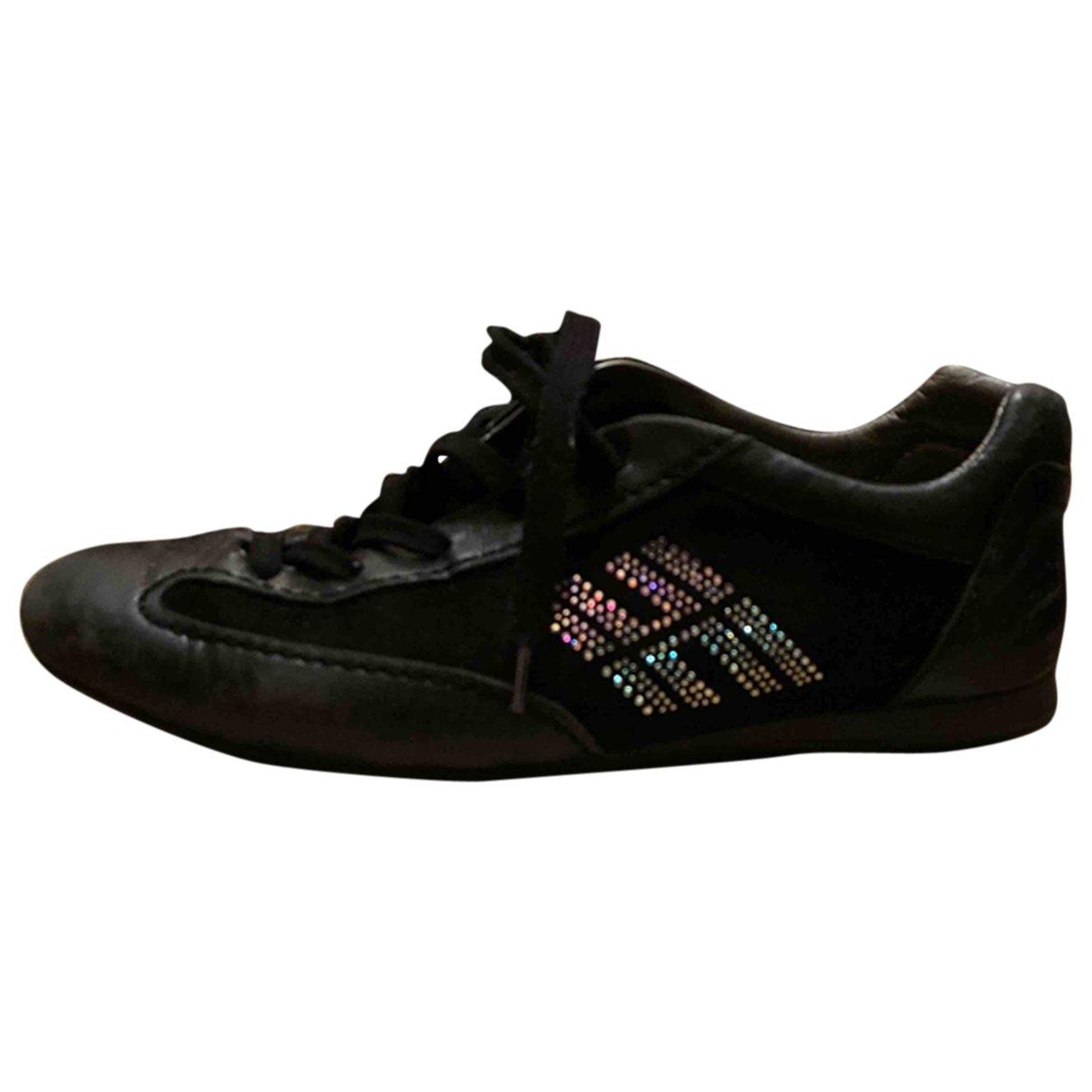 Hogan \N Black Leather Trainers for Women 35 EU