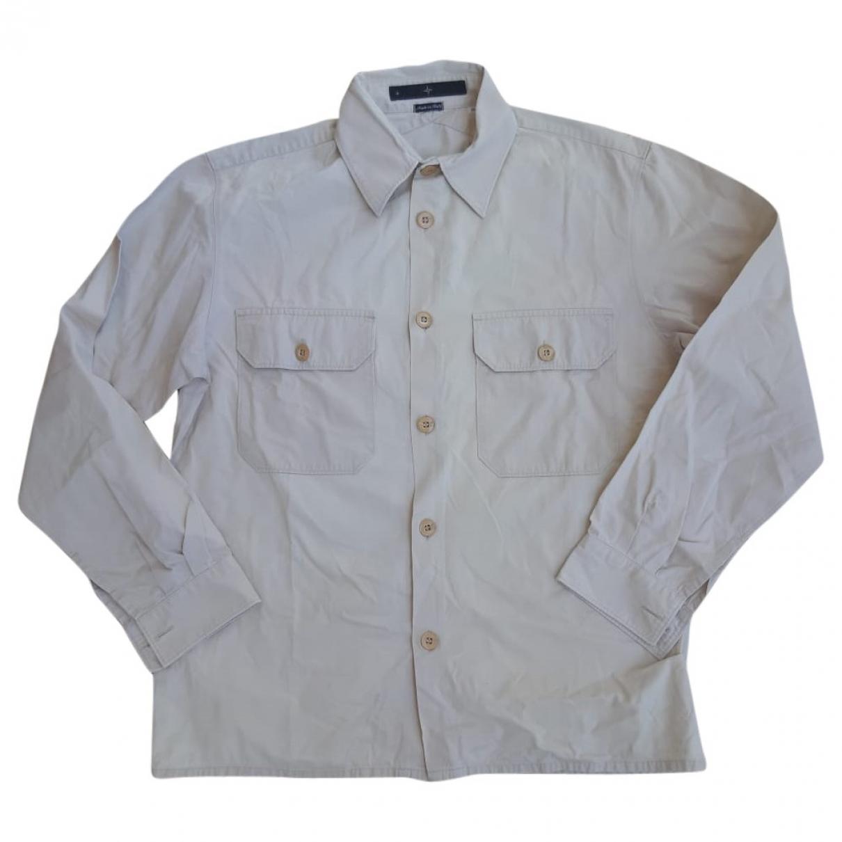 Stone Island - Chemises   pour homme en coton - beige