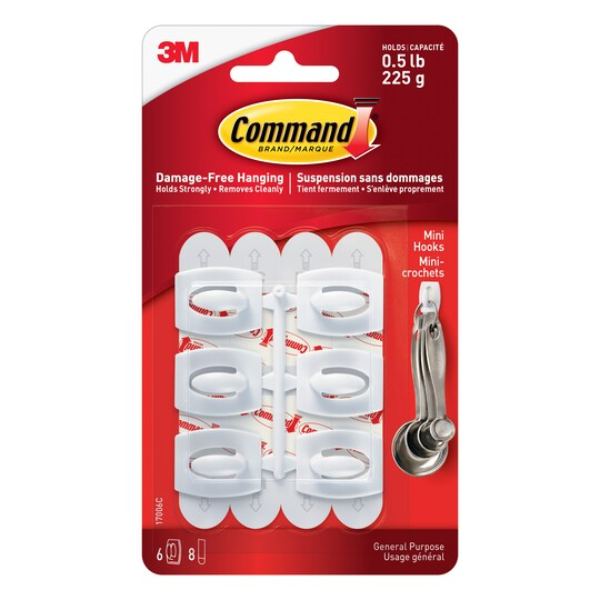 Command™ Mini Hooks By 3M in White | Michaels®