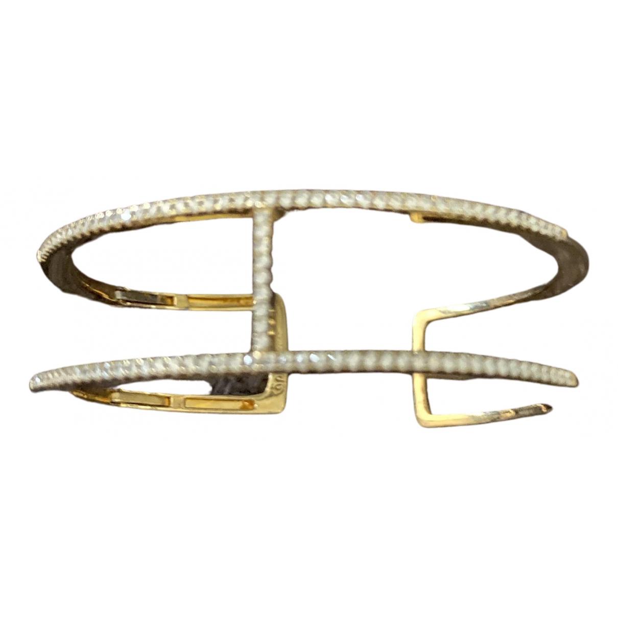 Apm Monaco - Bracelet Croisette pour femme en or jaune - dore