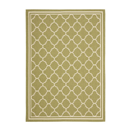 Safavieh Courtyard Collection Crispian Geometric Indoor/Outdoor Area Rug, One Size , Multiple Colors