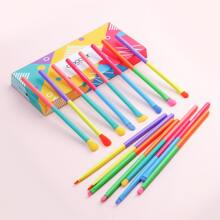 16pcs Color Block Makeup Brush Set