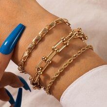 3pcs Minimalist Chain Bracelet