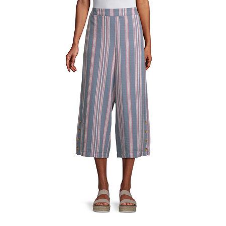 a.n.a-Tall Womens High Rise Cropped Pants, X-large Tall , Blue