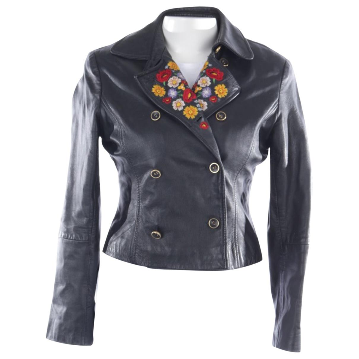 Kenzo \N Black Leather jacket for Women 38 FR