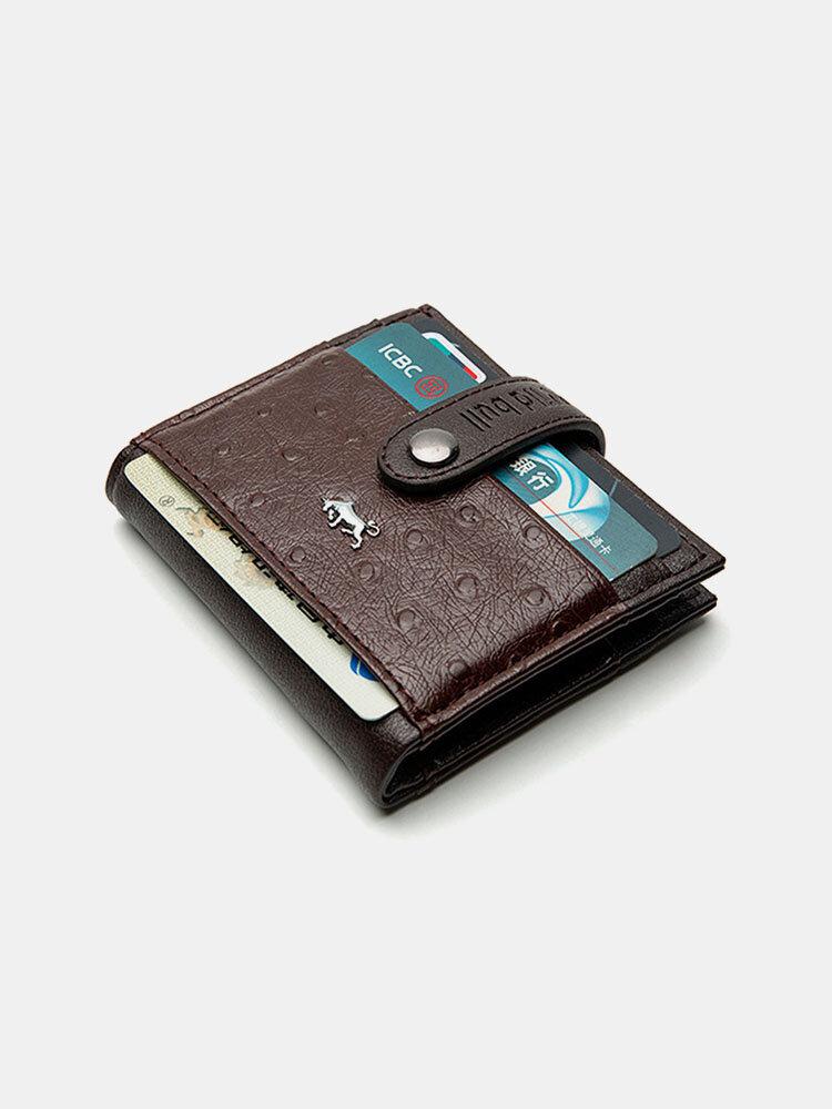 Men PU Leather Money Clips Card Case Wallet