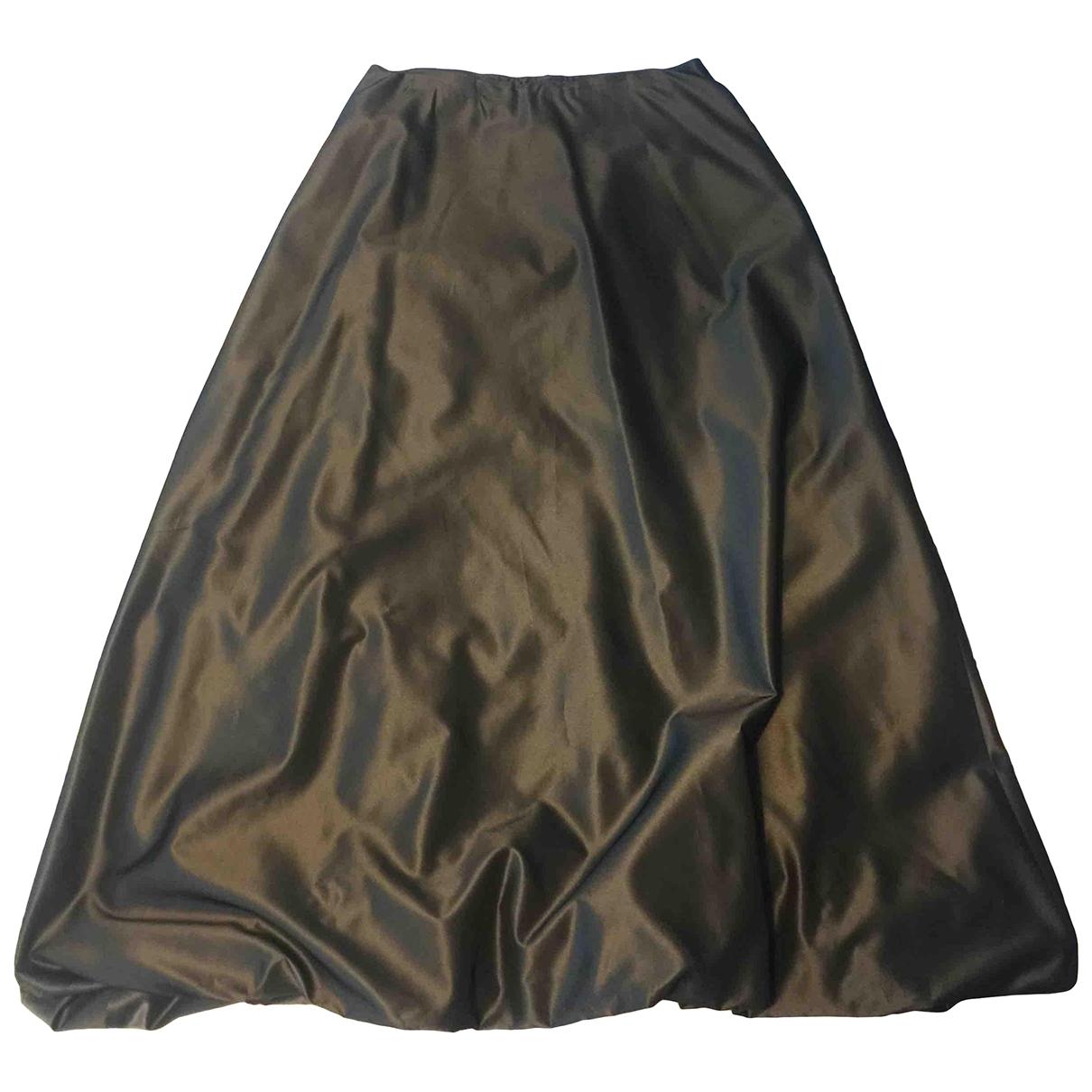 Non Signé / Unsigned Oversize Grey skirt for Women 40 FR