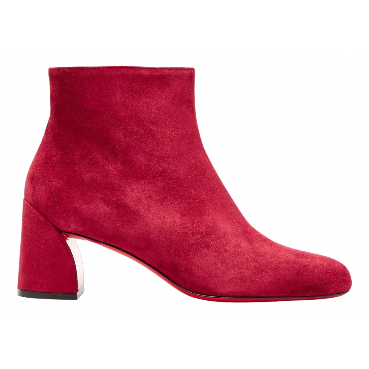 Christian Louboutin \N Red Suede Ankle boots for Women 37 EU