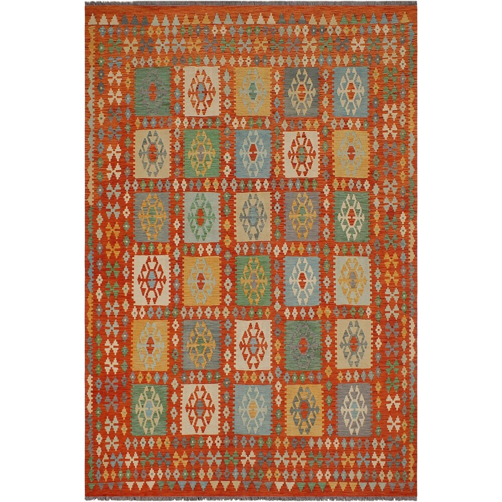 Southwestern Turkish Kilim Maryland Hand-Woven Area Rug - 8'5