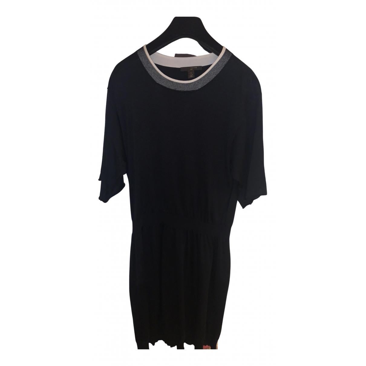 Louis Vuitton \N Kleid in  Schwarz Seide