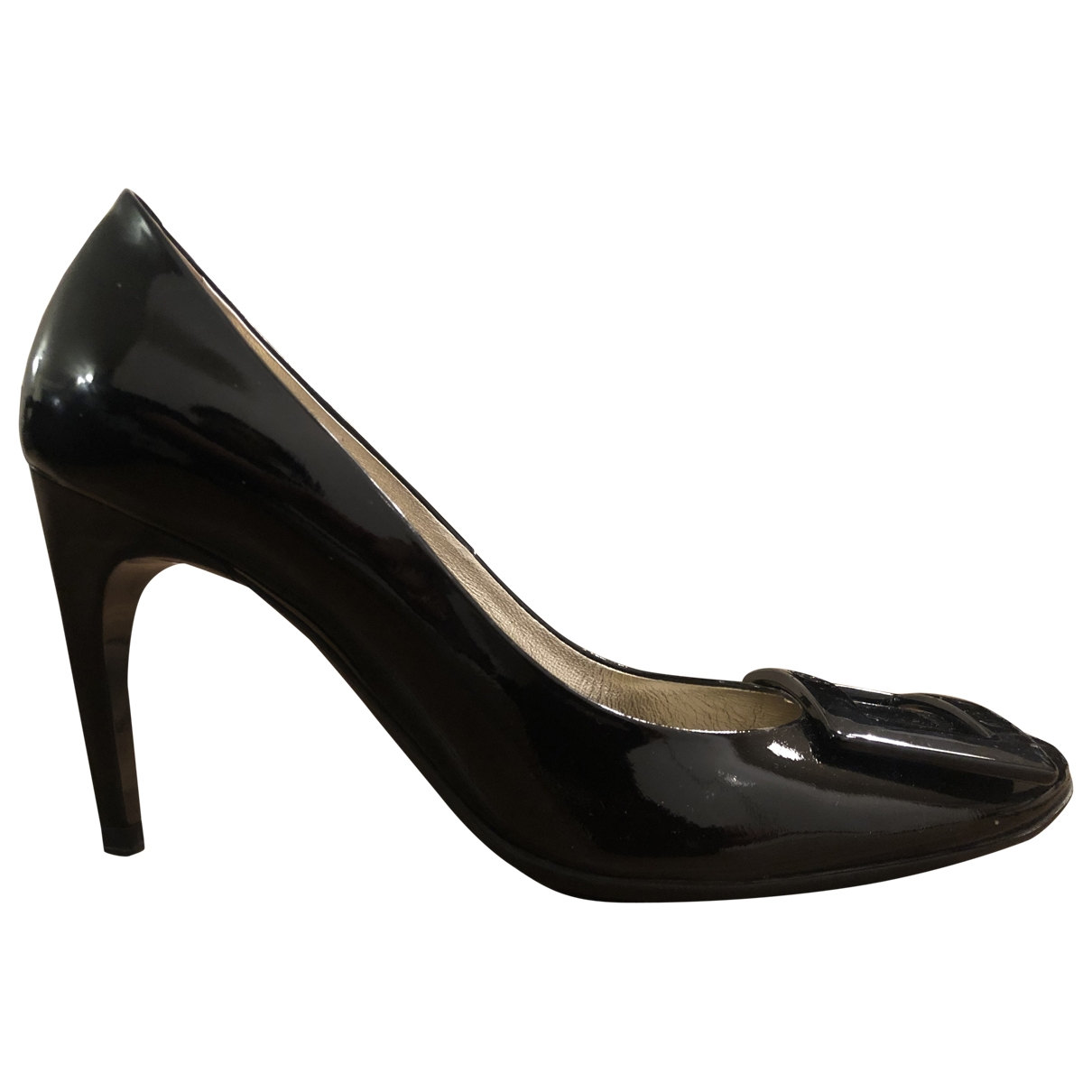 Roger Vivier Trompette Black Patent leather Heels for Women 38 EU