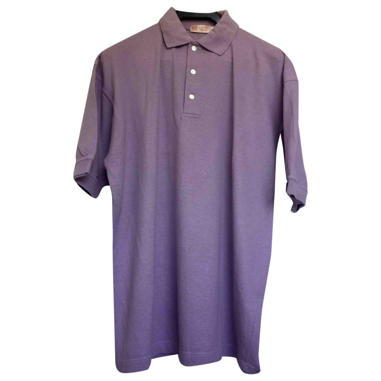 Loewe - Polos   pour homme en coton - violet