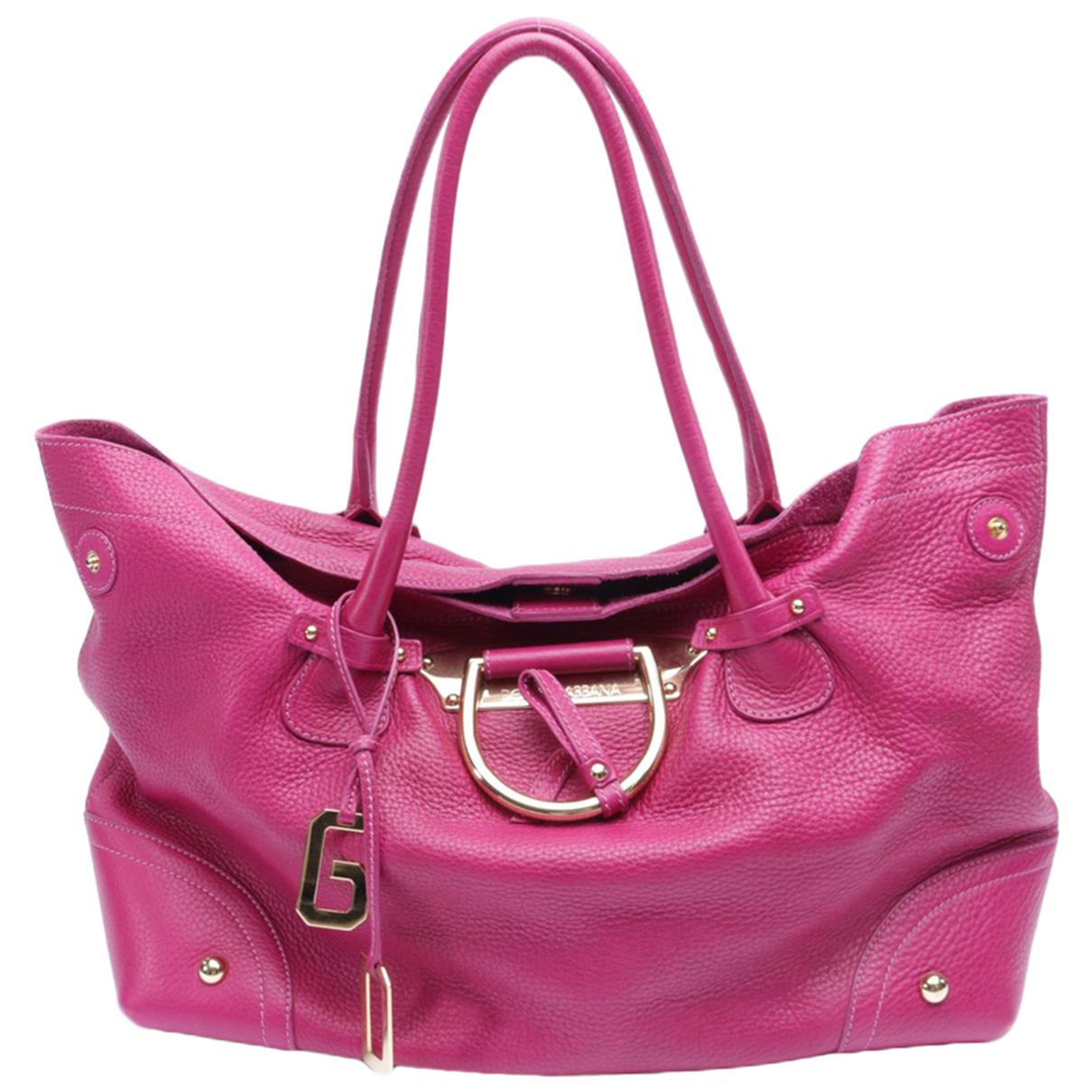 Dolce & Gabbana - Sac a main   pour femme en cuir - violet