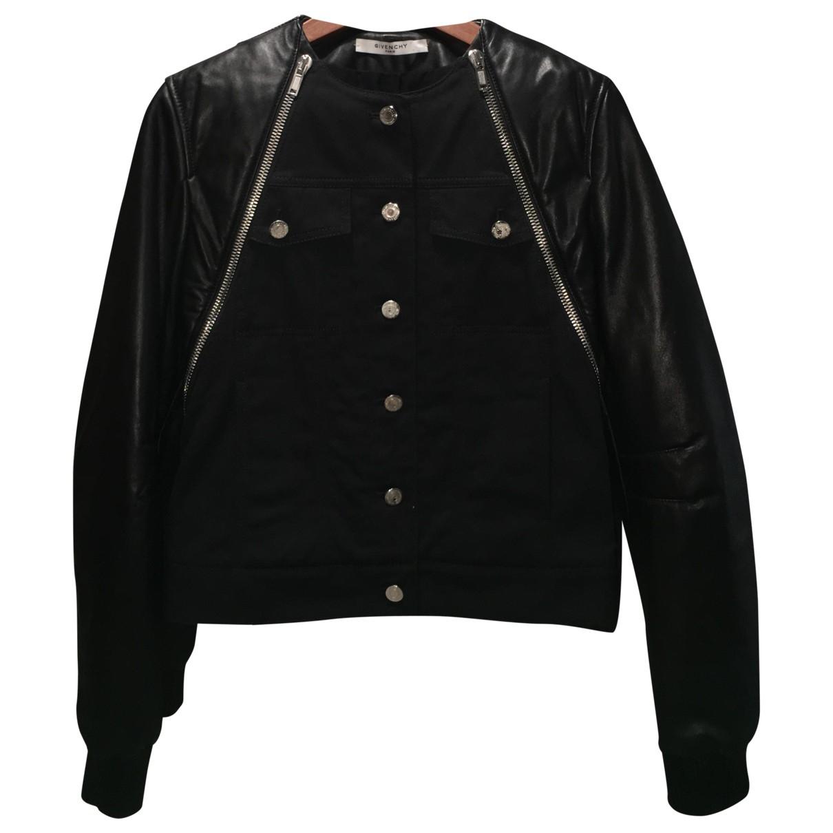 Givenchy \N Lederjacke in  Schwarz Baumwolle