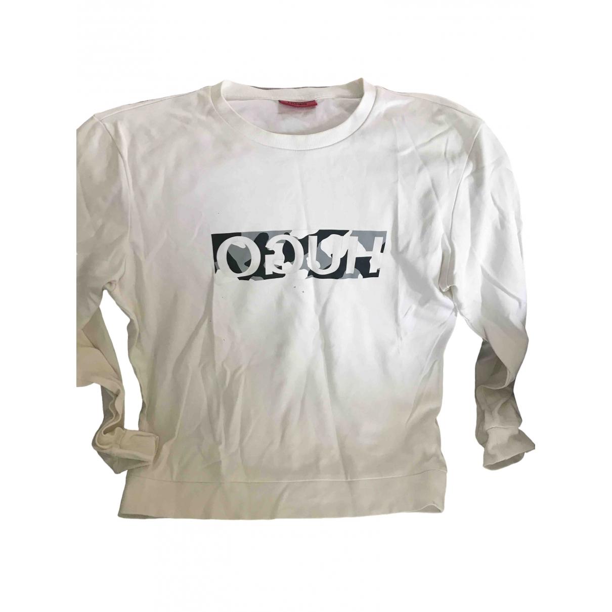 Hugo Boss \N Pullover.Westen.Sweatshirts  in  Weiss Baumwolle