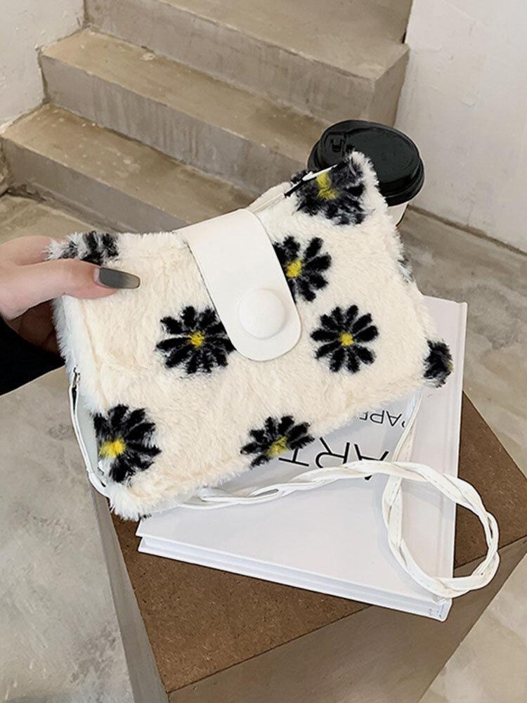 Women Cute Retro Floral Handbag Shoulder Bag