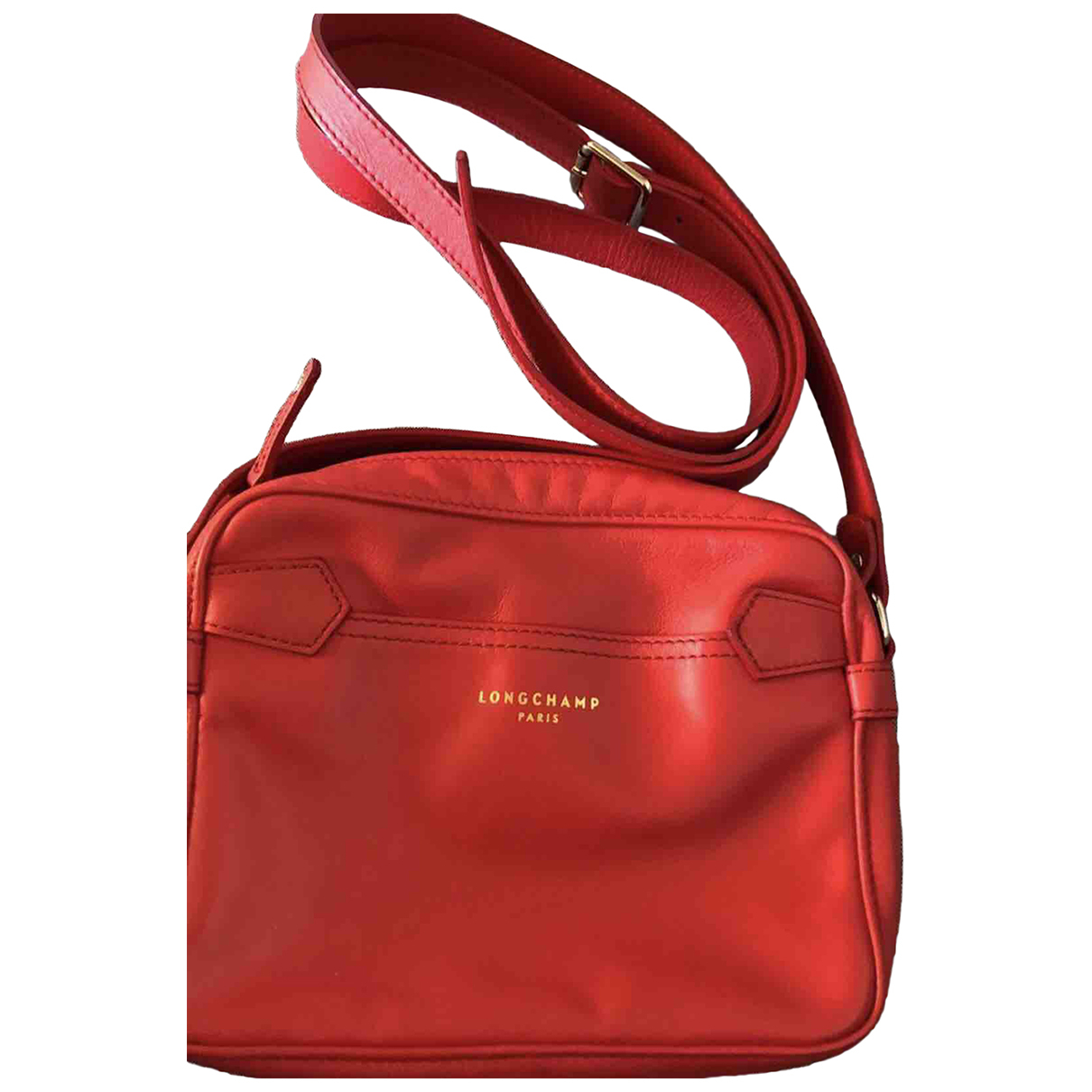 Longchamp \N Handtasche in  Rot Leder