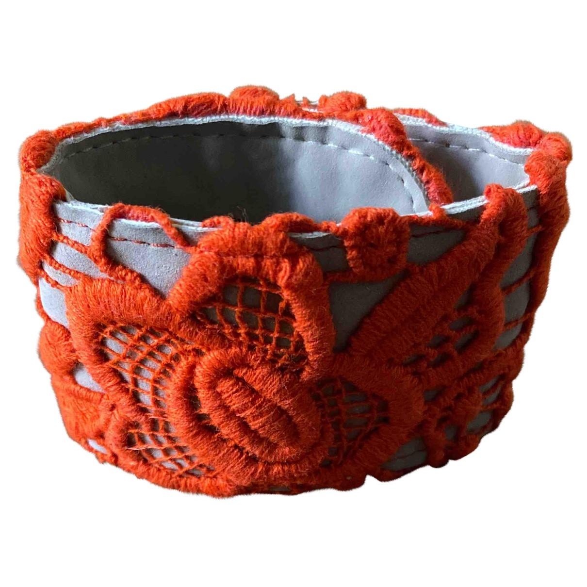 Blumarine - Bracelet   pour femme en cuir - orange