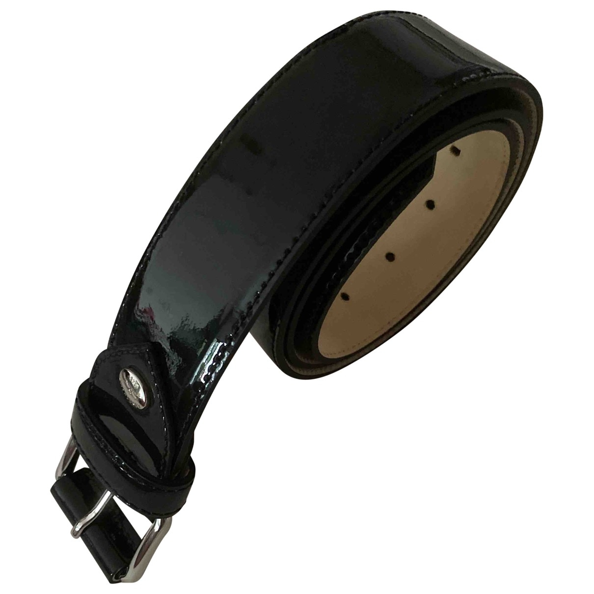 Longchamp \N Guertel in  Schwarz Lackleder