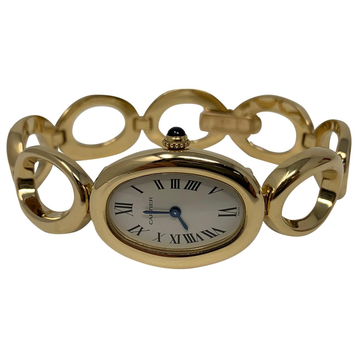 Reloj Baignoire de Oro amarillo Cartier