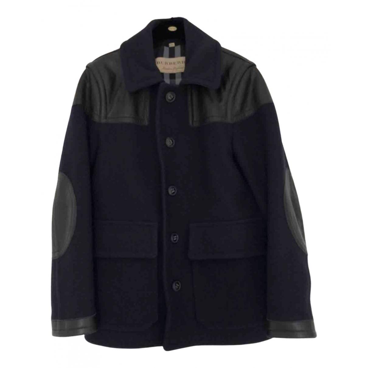 Burberry \N Navy Wool coat  for Men S International