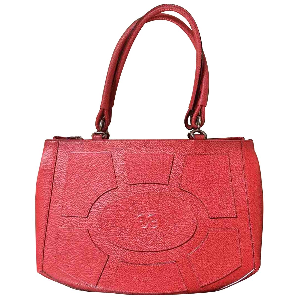 Escada \N Handtasche in  Rot Leder