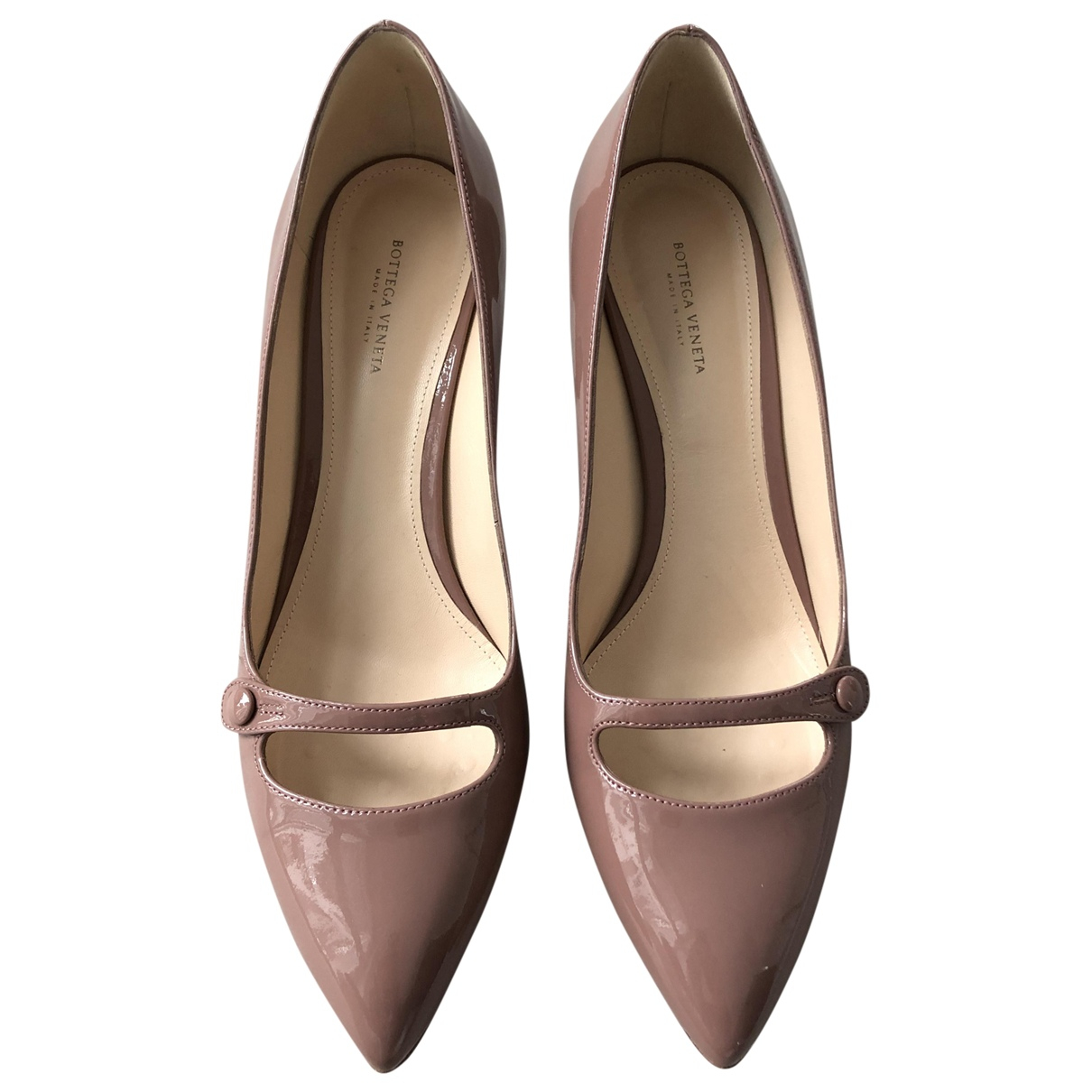 Bottega Veneta \N Beige Patent leather Heels for Women 39 EU