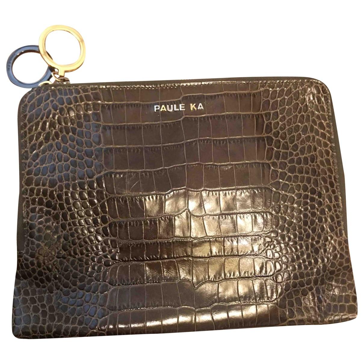 Paule Ka \N Khaki Clutch bag for Women \N