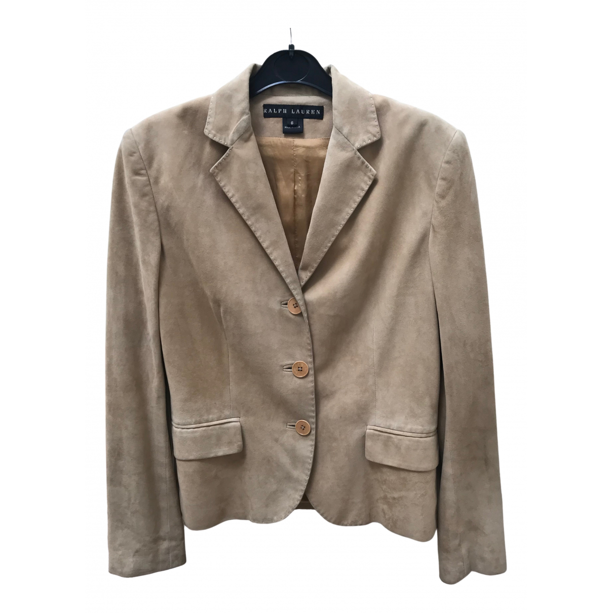 Ralph Lauren N Yellow Suede jacket for Women 6 US