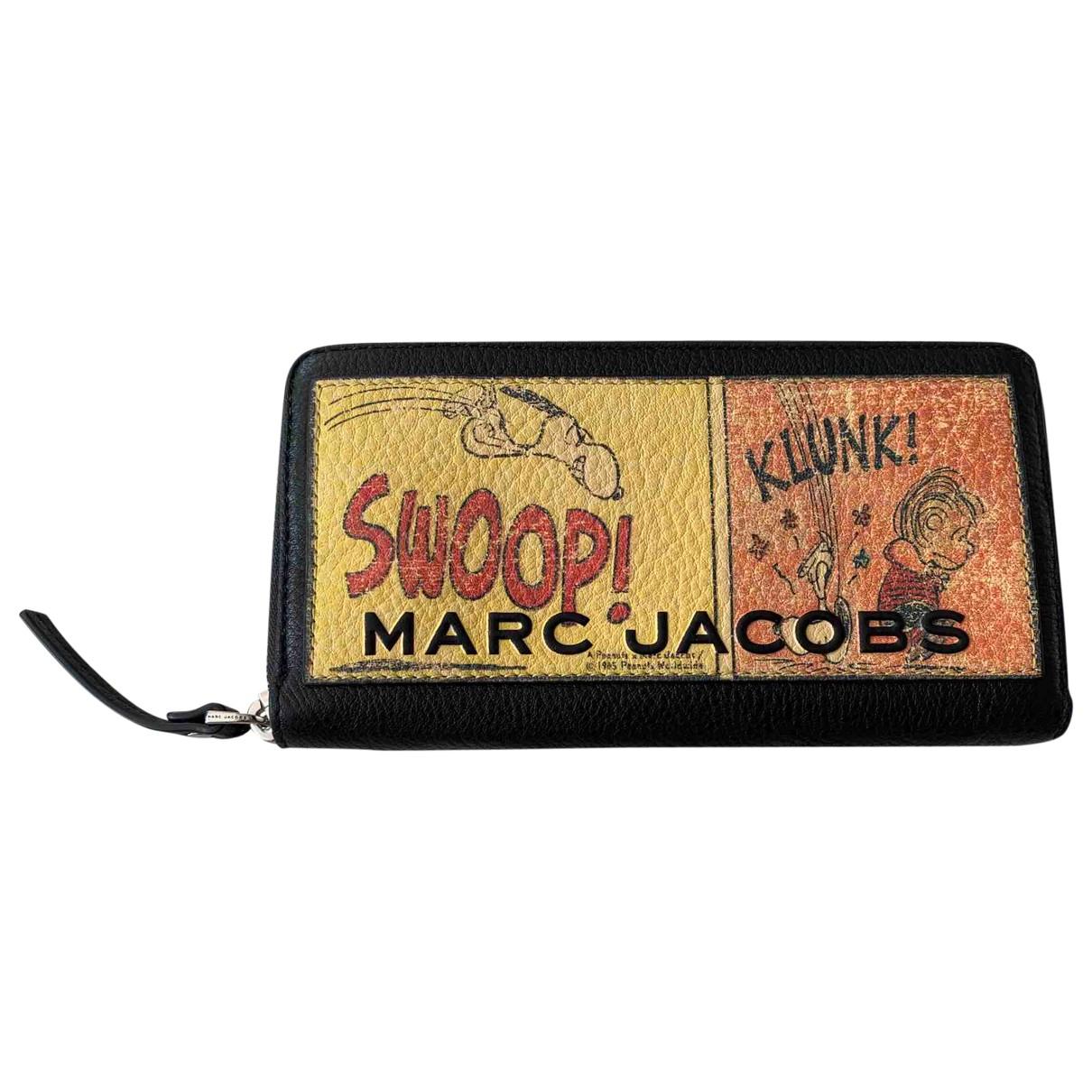 Marc Jacobs - Portefeuille   pour femme en cuir - noir