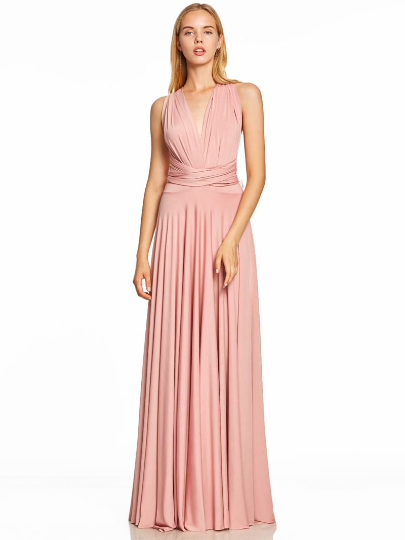 Ericdress V Neck Backless A Line Evening Dress