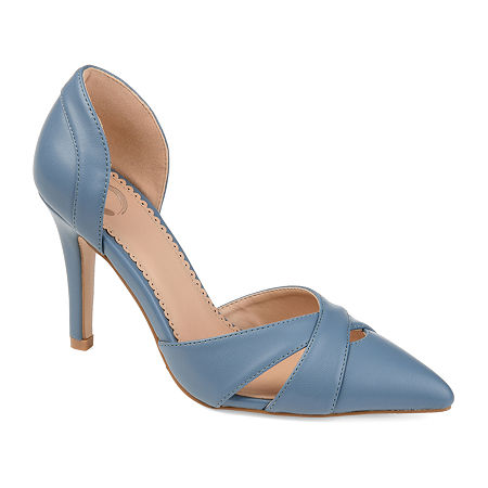Journee Collection Womens Dora Pumps Block Heel, 11 Medium, Blue