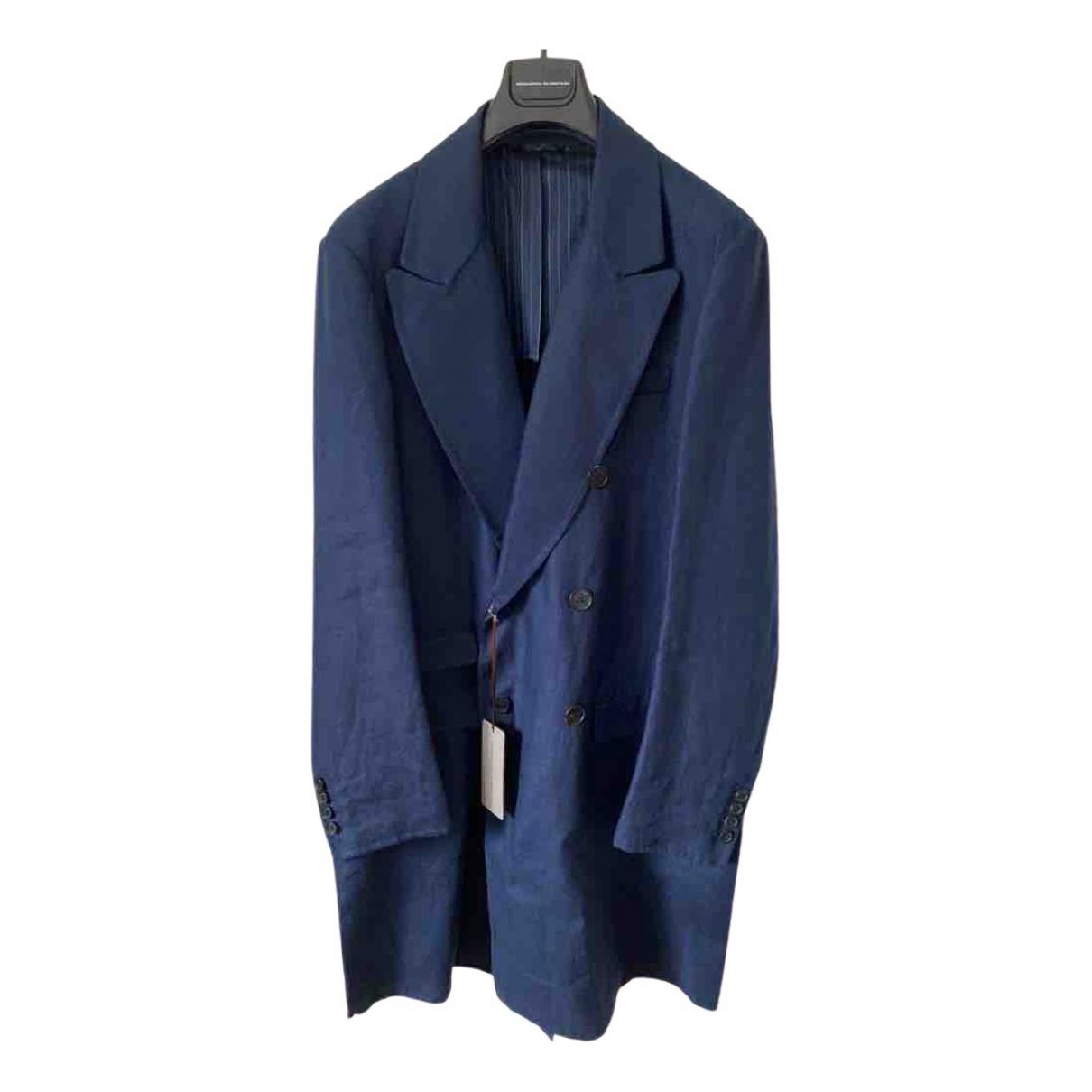 Ermanno Scervino - Manteau   pour homme en coton - bleu