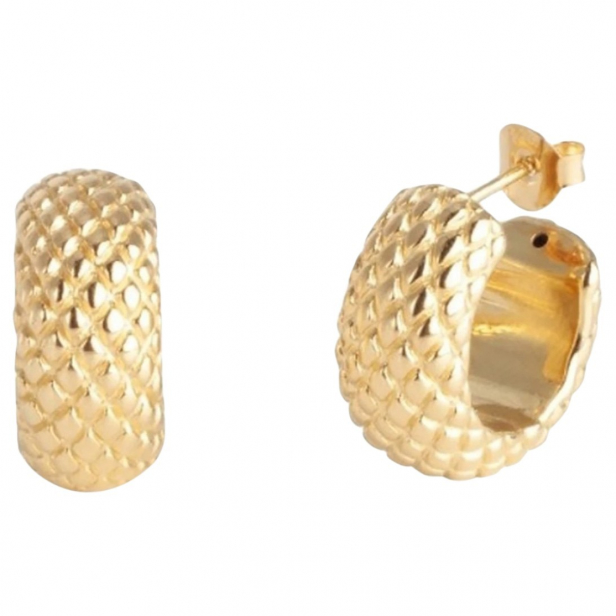 Non Signé / Unsigned Créoles Gold Silver Earrings for Women \N